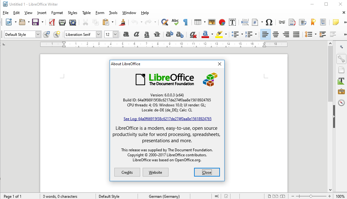 libreoffice 6.0