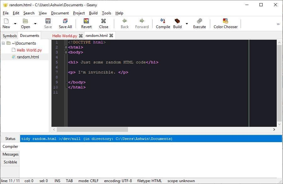 Geany is a programmer friendly open source text editor for Windows, Linux, macOS